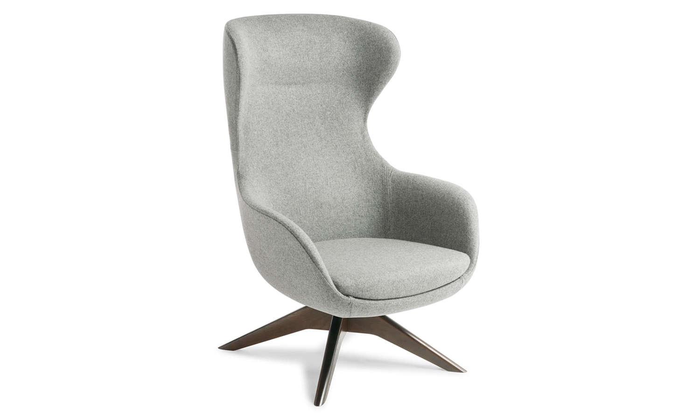Crestline Elizabeth Chair with Timber Swivel Base in Dark Walnut