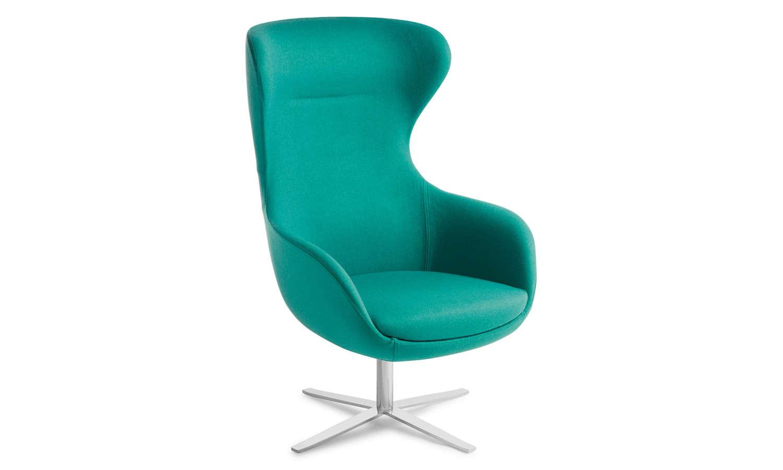 Crestline Elizabeth Chair with 4 Point Swivel Base in Chrome