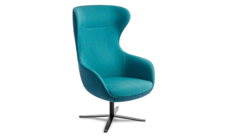 Crestline Elizabeth Chair with 4 Point Swivel Base in Black