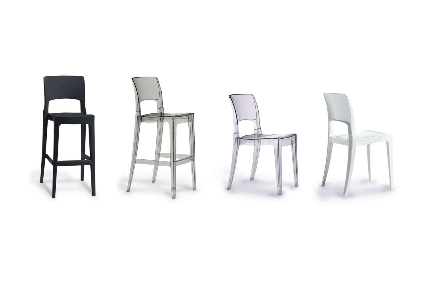 Commercial plastic chairs for offices and cafe's