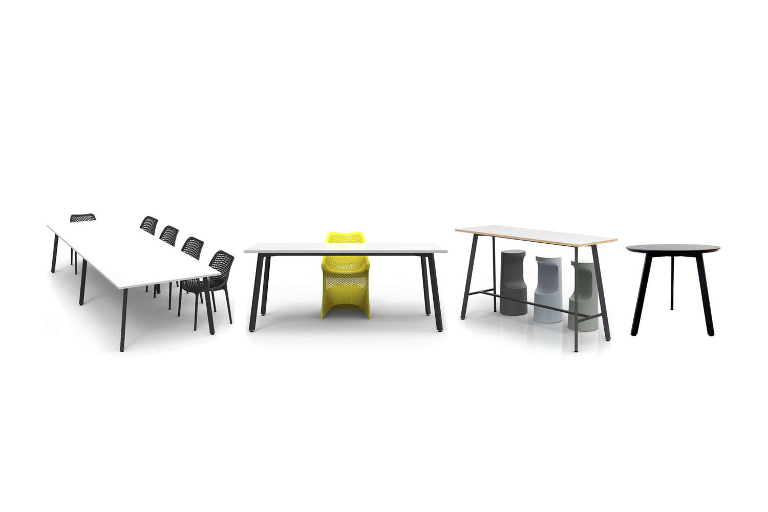 commercial modular office tables and office seating