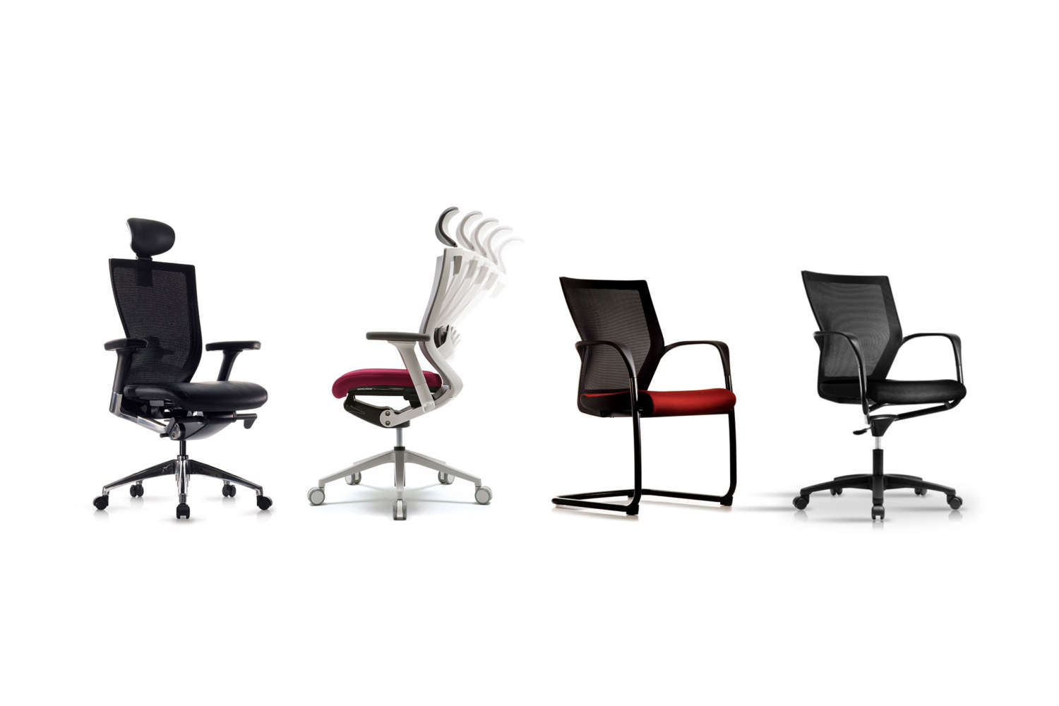 T50 series workspace chairs in different styles