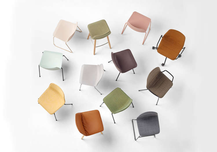 Mixed colours of Inclass commercial office seating options