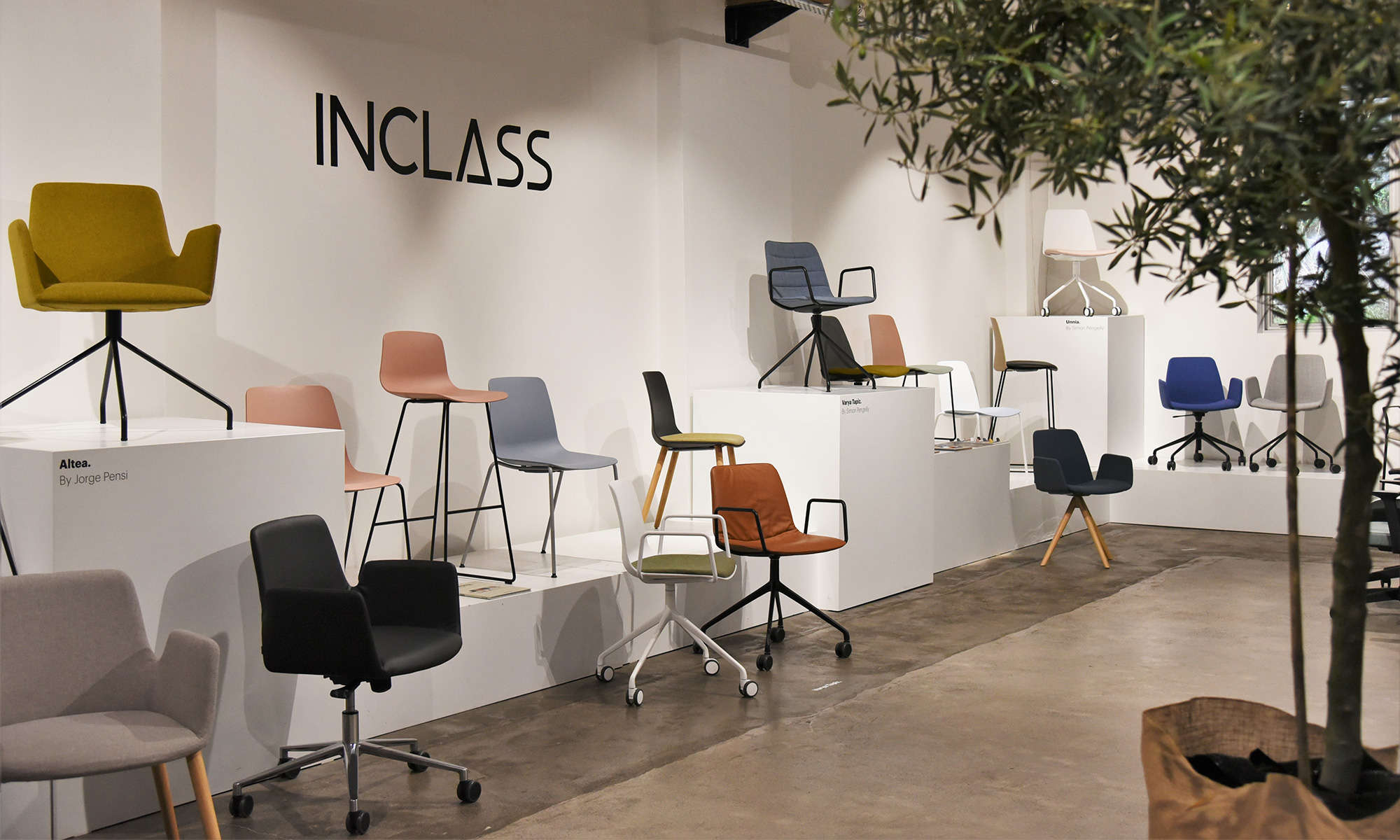 Collections by Inclass, designer commercial seating