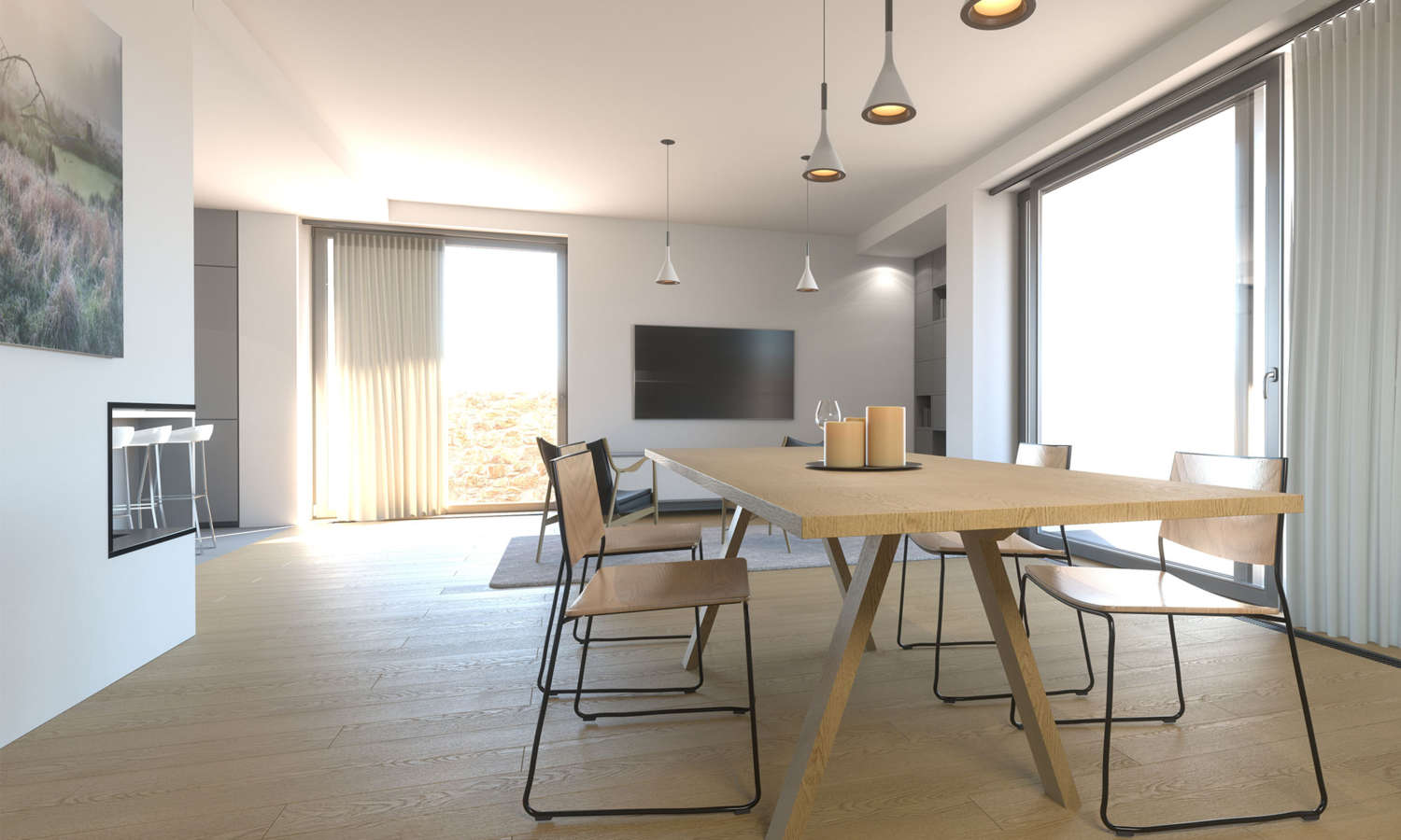 Natural wood commercial cafe furniture and office furniture